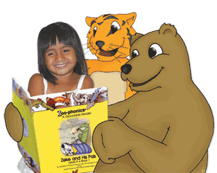 Young Girl and Bubba reading