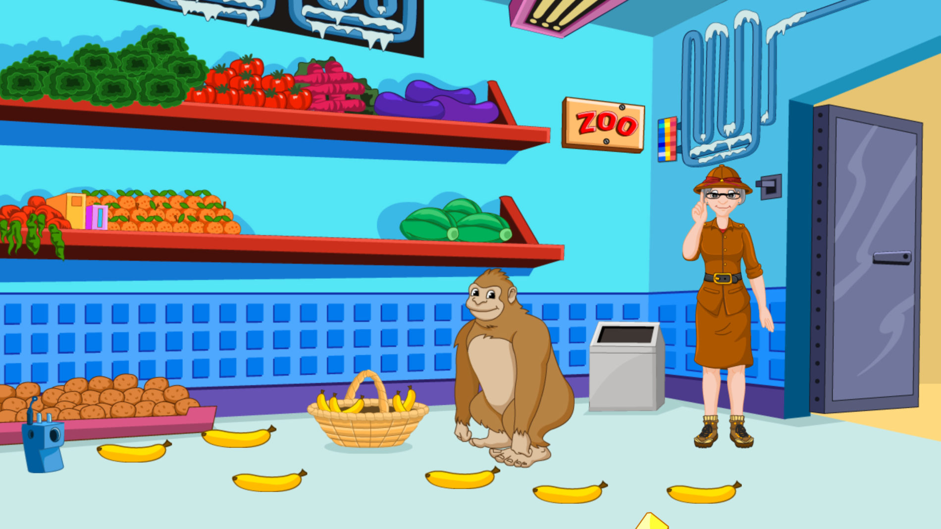 Read and Spell with Zoo-phonics Game 10 - The Zoo Kitchen - Zoo-phonics