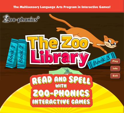 Read & Spell Game 15 - The Library (PC version) - Zoo-phonics
